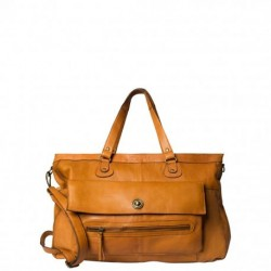 Cognac PCTOTALLY ROYAL LEATHER TRAVEL BAG NOOS 17055349 fra Pieces
