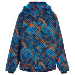Color Kids skijakke - Blå med print
