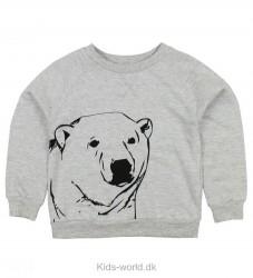 Color Kids Sweatshirt - Kaare - Gråmeleret m. Isbjørn