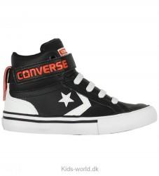 Converse Sko - Pro Blaze Strap Hi - Sort/Hvid