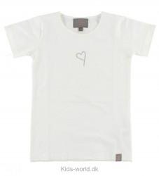 Creamie T-Shirt - Creme m. Hjerte