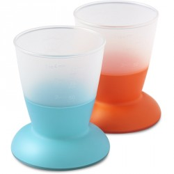Cup 2-Pack Orange/Turquoise