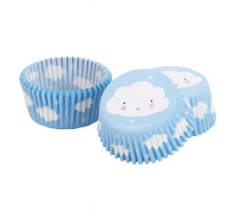 Cupcake forme fra A Little Lovely Company - Cloud (50 stk)