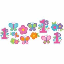 Cutouts - 1 års fødselsdag - 1st Birthday Girl