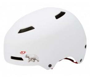 Cykelhjelm Giro Quarter Str. L 59-61,5 cm Mat hvid