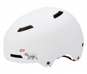 Cykelhjelm Giro Quarter Str. M 55-59 cm Mat hvid