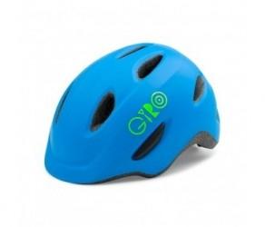 Cykelhjelm GIRO Scamp børnehjelm Str. 49-53 cm Mat blå/lime