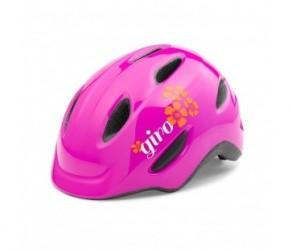 Cykelhjelm GIRO Scamp børnehjelm Str. 49-53 cm Pink blomst