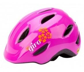 Cykelhjelm GIRO Scamp MIPS børnehjelm Str. 45-49 cm Pink blomst