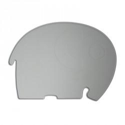 Dækkeserviet fra Sebra - Silikone elefant grå