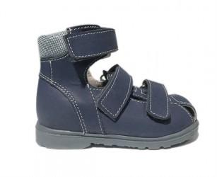 Dawid sandal, blå - sandal med ekstra støtte og lukket snude