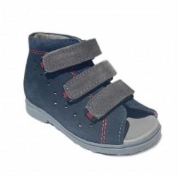 Dawid sandal, navy/grå - sandal med ekstra støtte