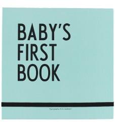 Design Letters Barnets Første Bog - Turkis