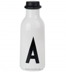 Design Letters Drikkeflaske - Hvid m. A