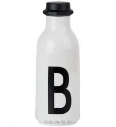 Design Letters Drikkeflaske - Hvid m. B