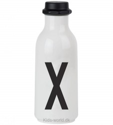 Design Letters Drikkeflaske - Hvid m. X