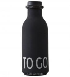 Design Letters Drikkeflaske - Sort m. TO GO