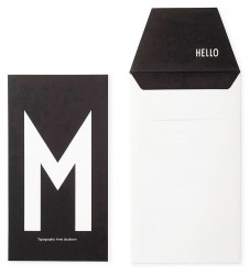 Design Letters Kort m. Konvelut - Sort m. M