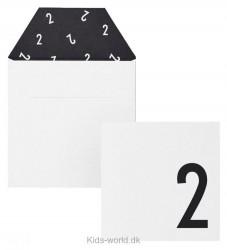 Design Letters Kort m. Konvolut - 2 - Hvid