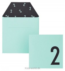 Design Letters Kort m. Konvolut - 2 - Mint