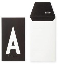 Design Letters Kort m. Konvolut - Sort m. A