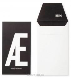 Design Letters Kort m. Konvolut - Sort m. Æ