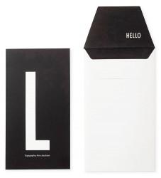 Design Letters Kort m. Konvolut - Sort m. L