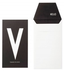 Design Letters Kort m. Konvolut - Sort m. V