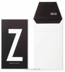 Design Letters Kort m. Konvolut - Sort m. Z
