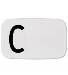 Design Letters Madkasse - Hvid m. C