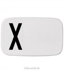 Design Letters Madkasse - Hvid m. X
