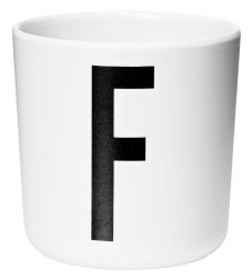 Design Letters Melamin Kop - Hvid m. F