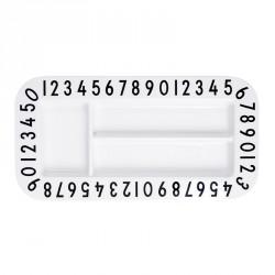 Design letters - Rektangulær tallerken
