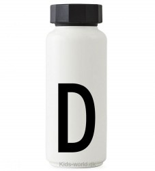 Design Letters Termoflaske - Hvid m. D