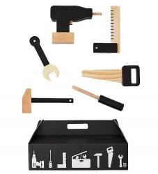Design Letters Værktøjskasse - Sort/Træ