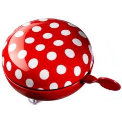 DING ringeklokke - Rød med prikker