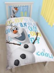 Disney Frost / Frozen Olaf 2 i 1 Sengetøj v2