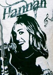 Disney HANNAH MONTANA t-shirt med v-hals & glimmer tryk