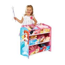Disney Prinsesse Reol m. 6 stof kurve