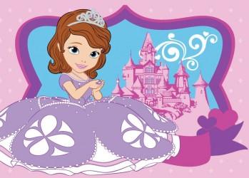 Disney Sofia den først tæppe til børn Design 03 - 95x133 cm