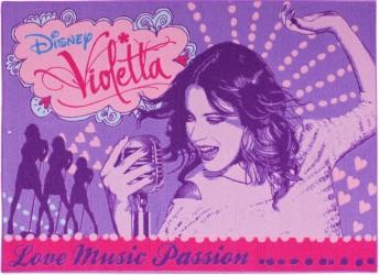 Disney Violetta Tæppe til børn 02 - 95 x 133 cm