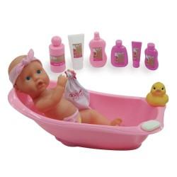 Dolls World dukke med badekar - Bathtime