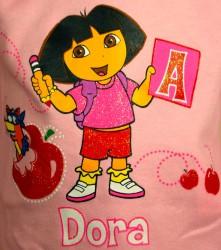 DORA, bluse med glimmer