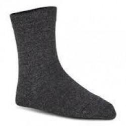 Double soft uldstrømper, koksgrå (23-26) - velegnet til membran-støvler
