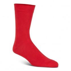 Double soft uldstrømper, rød (31-34) - velegnet til membran-støvler