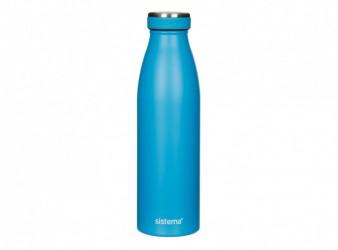 Drikkeflaske i rustfri stål - Sistema Stainless Stell (500ml) - Blå
