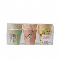 Drikkekrus 6 styk Cirkus Print Rosa fra Rice