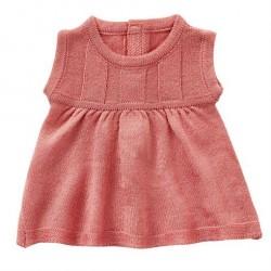 Dukketøj kjole rosa strik By Astrup