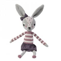 Dyr fra Sebra -Hæklet kanin Roberta