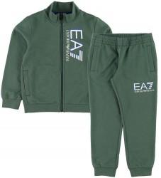 EA7 Sweatsæt - Track - Støvet Grøn
